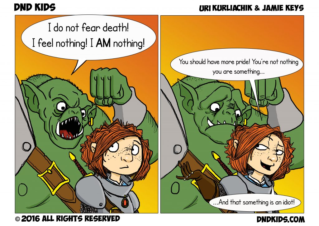 """DND Kids comic strip"